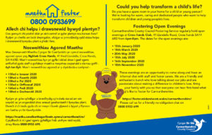 Fostering Open Evenings in Carmarthenshire