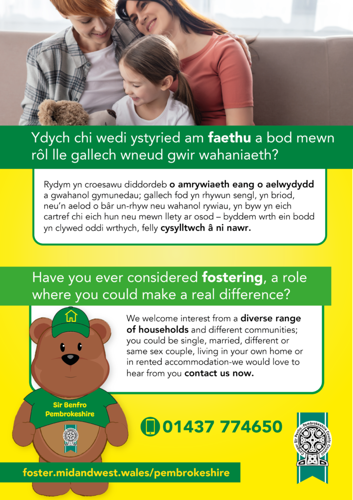Have you considered fostering in Pembrokeshire