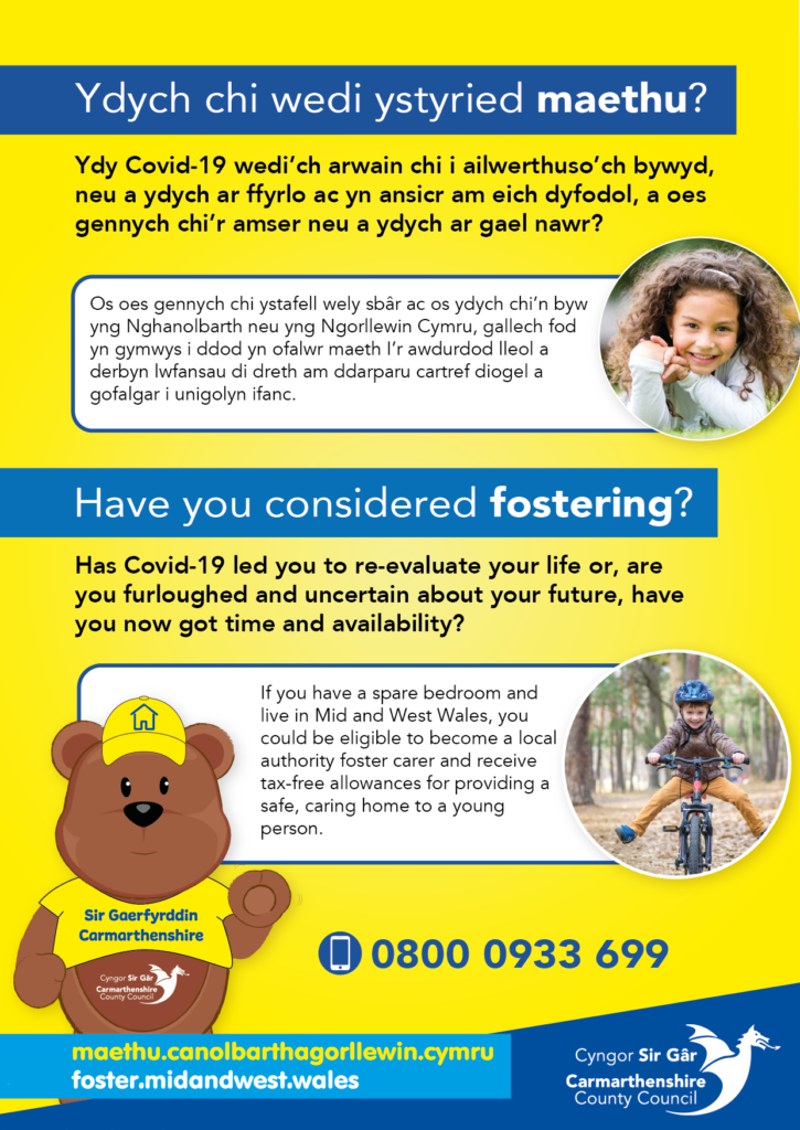 Have you considered fostering in Carmarthenshire